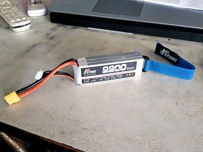 《TS同心模型 》最新 JH POWER A級電池 11.1V/2200ma/35c (XT-60)頭,贈電池束帶