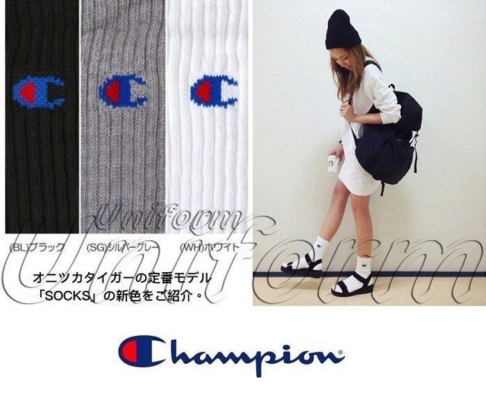 Ch ion LOGO 毛巾底 高筒襪 長襪 足球襪 冠軍 復古 古著 百搭 日系 男女