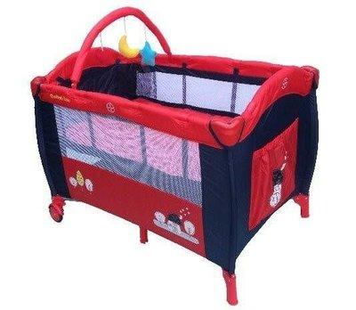 [家事達] Mother's Love-CL20 雙層遊戲床-紅屋 有活動側門.附玩具架.蚊帳