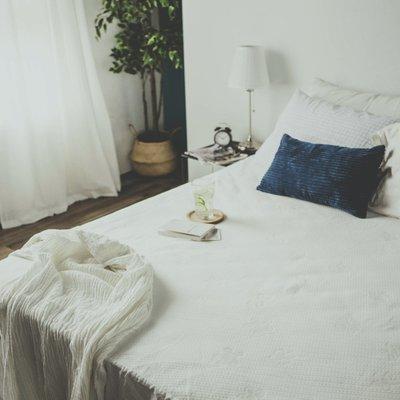 MIT保潔墊 【物理防水透氣保潔墊】床包式 單人加大3.5尺 絲薇諾