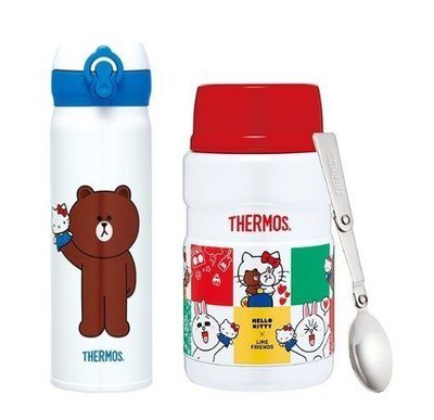 膳魔師SK3021KTLIN-WH 不鏽鋼真空食物燜燒罐+JNL-500KTLIN-WH真空保溫瓶 組合價 超取