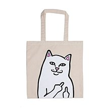 { POISON } RIPNDIP LORD NERMAL CANVAS TOTE BAG 中指貓帆布托特包