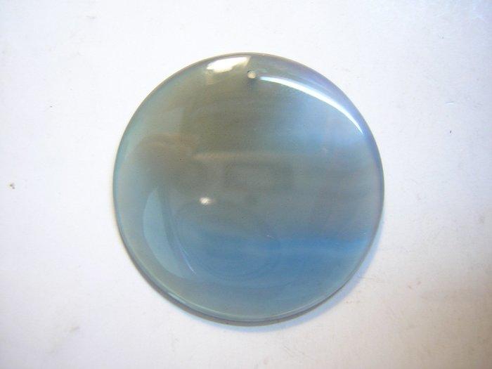 【采鑫坊】AAA級藍玉髓墜子~大餅款直徑35mm《低起標.無底價》~