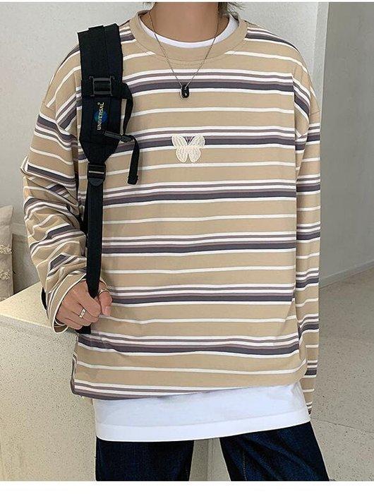 FINDSENSE X  男士 長袖  休閒 寬松  假兩件寬松打底衫街頭潮流上衣t恤