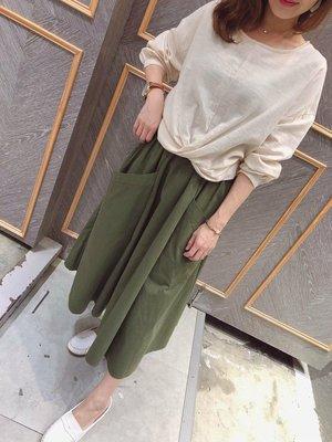 韓版 扭結棉麻上衣,可穿至M,版型簡約有型,簡單搭配,有喜歡請把握,現貨杏2,下標前先詢問,Rita Clothes。
