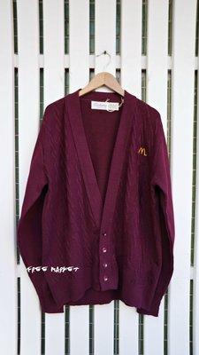 美國製 Vintage Mcdonald's  員工制服 針織開襟衫 (palace/Vetements/翻玩)