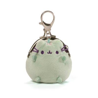 所有商品購買前請先詢問!美國 官方正版 pusheen 胖吉貓 娃娃 小零錢包  扣式 零錢包 胖吉 3吋 綠色