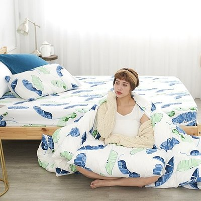 [SN]#U104#細磨毛天絲絨6x6.2尺雙人加大床包被套四件組-台灣製