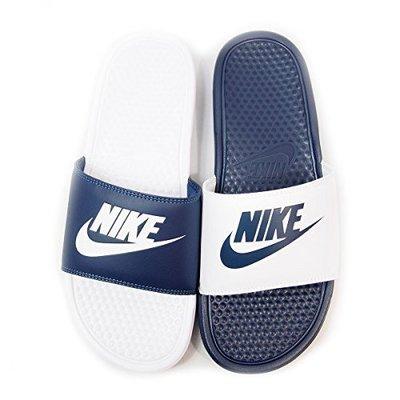 NIKE BENASSI JDI MISMATCH 陰陽 拖鞋 男女鞋 黑白 818736 011 藍白 410 YTS