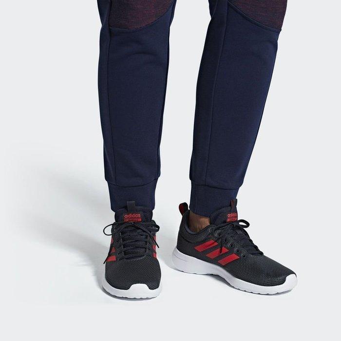 Adidas Neo Lite Racer Cln 黑紅 白底 網布 慢跑鞋 男 B96572【Speedkobe】