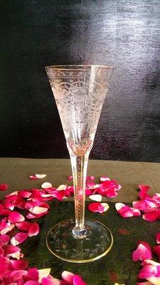 (店舖不續租清倉大拍賣)摩瑟MOSER水晶香檳杯(1),原價16000元特價8000元