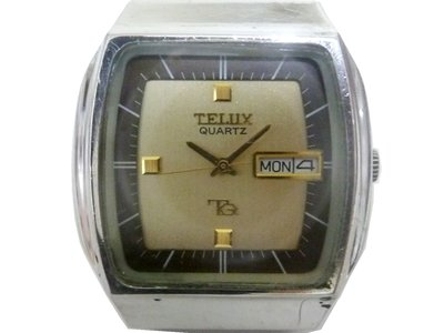 [專業模型] 石英錶 [TELUX 72701] 鐵力士 [TQ系列]石英錶[金色面+星+日期]時尚/古董/軍錶