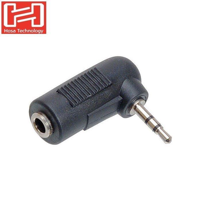 又敗家HOSA音源線轉接器GMP-467公3.5mm轉成公2.5mm耳機轉接頭轉接座適VIDEOMIC超指向麥克風接Panasonic G7 G6 G5 G10