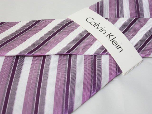 【Calvin Klein CK】100%全新正品 斜紋領帶-灰紫色系【寬版8cm】*領帶兩條95折三條9折*C234