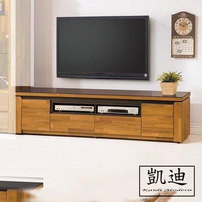 【凱迪家具】F32-253-7 潔妮絲集層木7尺電視櫃 /大雙北市區滿五千元免運費