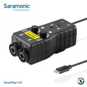 【Saramonic 楓笛】麥克風、智慧型手機收音介面(USB Type-C接頭) SmartRig+ UC 公司貨