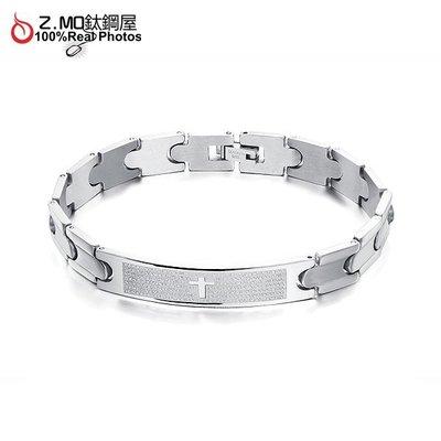 316L鈦鋼手環 十字架造型設計 生日禮物推薦 單件價【CKS761】Z.MO鈦鋼屋