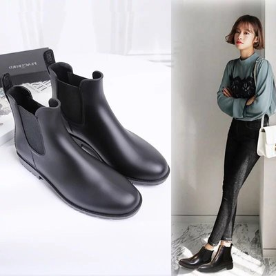韓版雨牧時尚雨鞋女短筒短靴雨靴男成人防水套鞋韓國低幫膠鞋防滑防水雨鞋