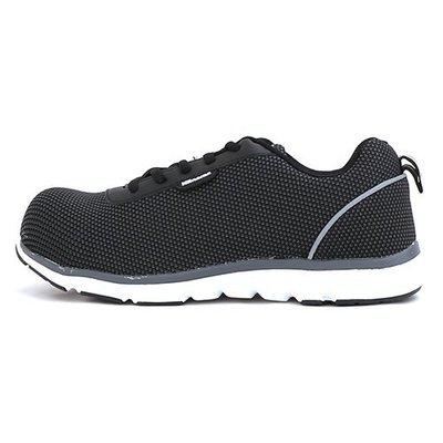 男女款 超輕量透氣網布綁帶 運動鞋加塑鋼頭 寬楦 塑鋼鞋 工作鞋 安全鞋 Ovan