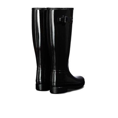 跩狗嚴選 英國代購正品 Hunter Refined Boots 修身 窄款 筒圍 亮面 黑色 長筒 高筒 雨鞋 雨靴