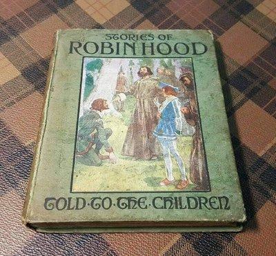 【藏家釋出】 早期收藏 ◎ 《羅賓漢崛起....》 (((1905年出版)))【歐美百年古董書 】......