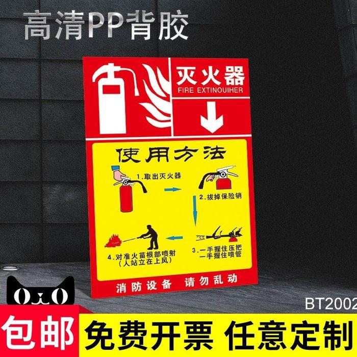 聚吉小屋 #5件起發滅火器安全警示牌告知牌消防警告牌消火栓嚴禁煙火標示牌工廠車間倉庫機器設備注意安全標識牌標志牌定制貼紙