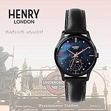 HENRY LONDON 珍珠貝母月相腕錶 英國前衛品牌MOON PHASE系列 HL35-LS-0324
