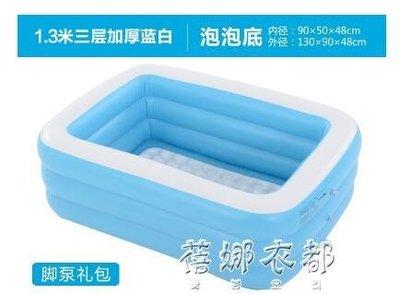 雙人超大家用成人泡澡桶情侶充氣浴缸兒童洗澡桶折疊浴盆游泳池YYP  蓓娜衣都
