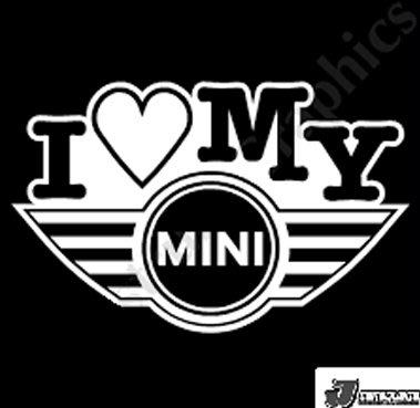我愛MY MINI 貼紙 創意貼紙 汽車貼紙