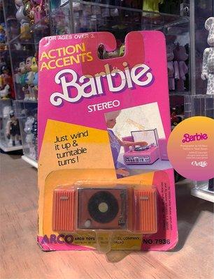 Artlife @ MATTEL 1987 ACTION ACCENTS Stereo 芭比 黑膠唱片機 經典絕版老玩具