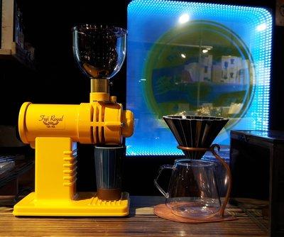 【多塔咖啡】新版 日本原裝 公司貨 保固一年 小富士 FUJI ROYAL DX R-220 磨豆機 黃色 鬼齒