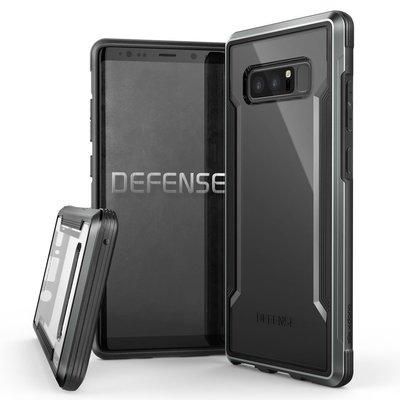 丁丁 三星 Samsung Galaxy Note 8 未來科技美感透明金屬全包手機殼 簡約時尚 抗震防摔 手機保護套