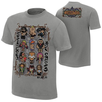 ☆阿Su倉庫☆WWE WrestleMania 34 Voodoo Dolls T-Shirt 摔角狂熱最新款 特價中