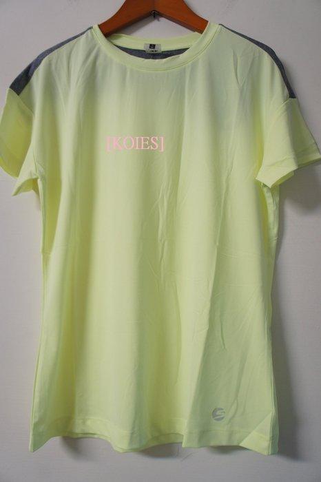 [KOIES] 一元起標無底價 韓國品牌 SCELIDO 運動短袖T恤 100(L) 瑜珈 健身 慢跑