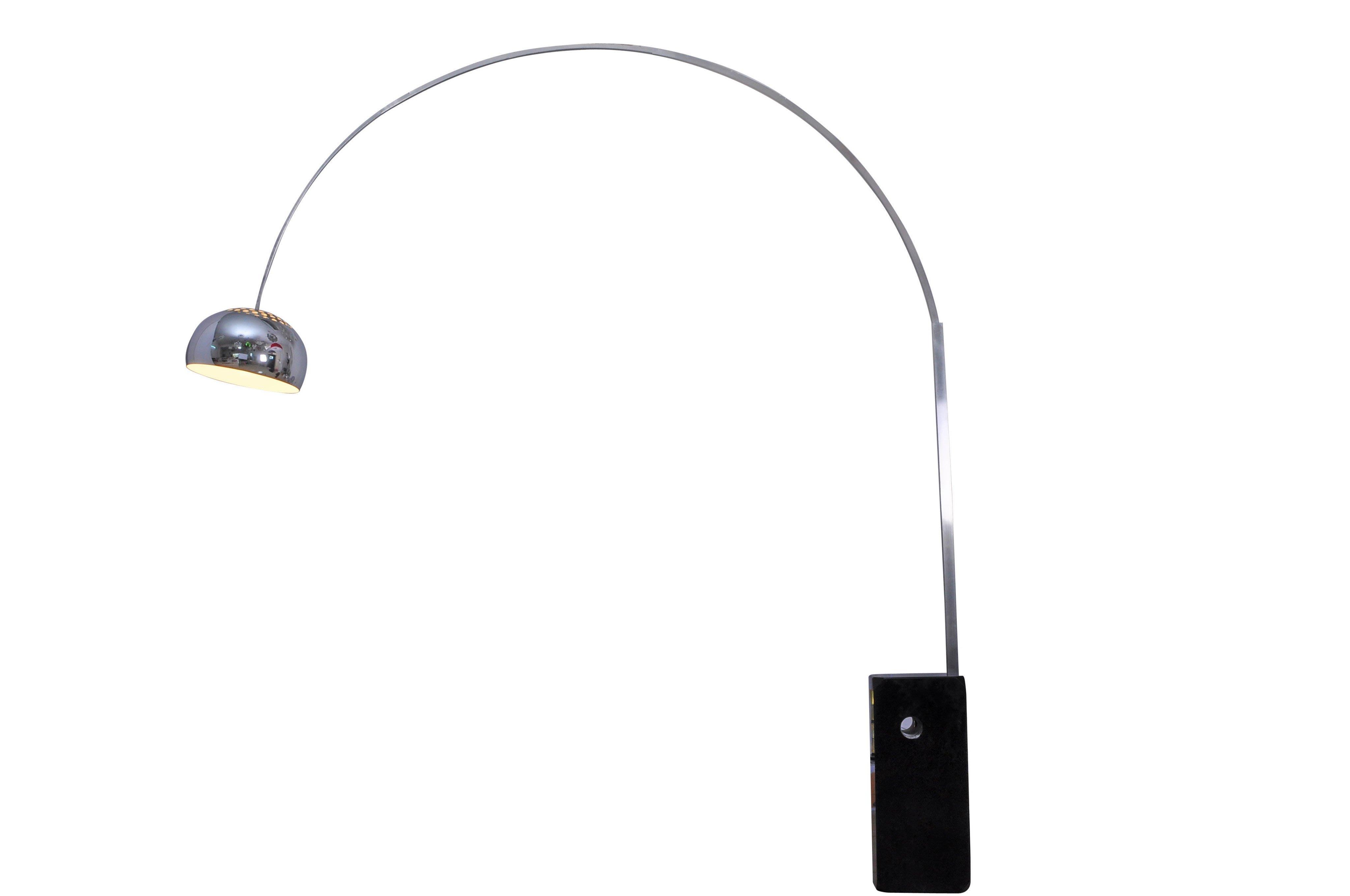 「美燈匯」意大利血統不銹鋼大理石可伸縮ARCO FLOOR LAMP 客廳書房落地燈飾 M/D/291
