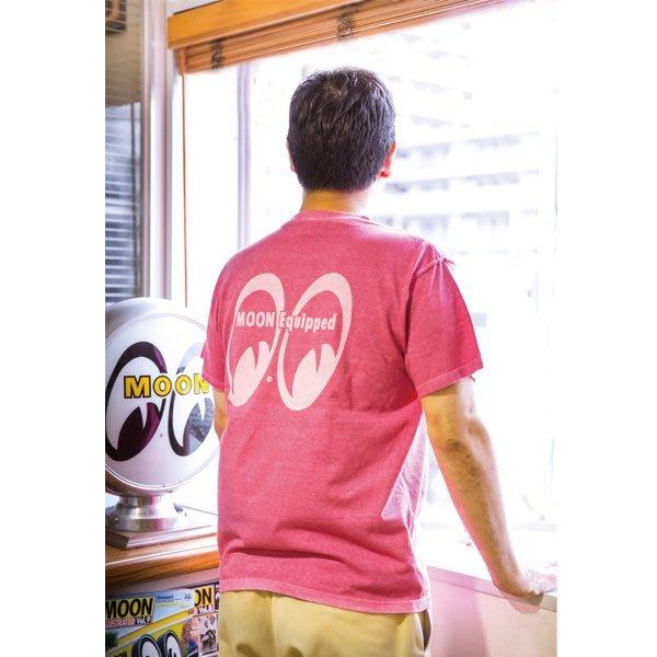 (I LOVE樂多)MOON Classic Pigment Dye T-Shirt 大LOGO 口袋短T