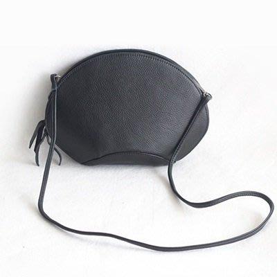 肩背包 真皮手拿包-荔枝紋純色牛皮貝殼包女包包73nf43[獨家進口][巴黎精品]