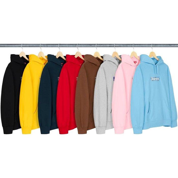 【美國鞋校】預購 Supreme FW19 Bandana Box Logo Hooded Sweatshirt 帽T