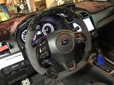 DK RACING百變天王卡夢麂皮WRX LEVORG客製化方向盤 CARBON Steering wheel另有森林人