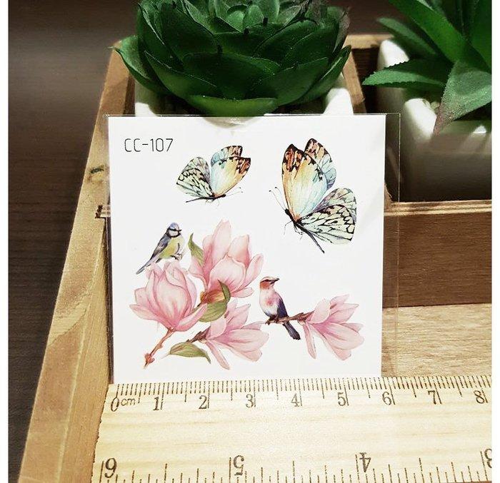 【萌古屋】花朵單圖CC-107 - 防水紋身貼紙刺青貼紙K38