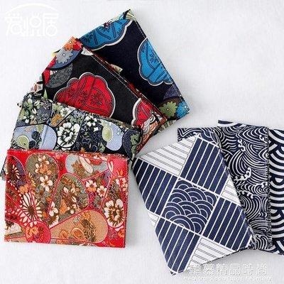 日式棉麻印花布藝餐墊 雙層餐墊 正反可用 隔熱防滑墊