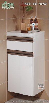 《振勝網》Corins 柯林斯 100%防水材質+人造石檯面 88cm 嵌實木把手結晶板鋁封邊矮櫃 SR-40L