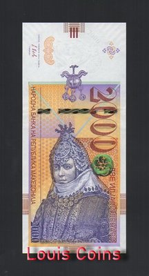 【Louis Coins】B745-MACEDONIA-2016馬其頓紙幣,2.000 Denari