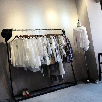 JM精品 #北歐服裝店展示架側掛陳列架...