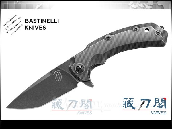 《藏刀閣》Bastinelli-(SAFE)安全快開鈦柄折刀