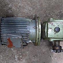 3HP 馬達減速機附剎車 1:30渦輪減速機