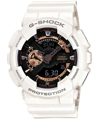 【EASYwatches】CASIO 卡西歐 G-SHOCK GA-110RG-7A 白玫瑰金 GA_100_110