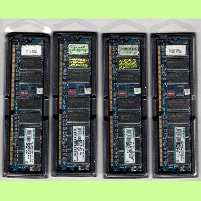 5Cgo【現貨】創勝KINGMAX DDR400 1G 1GB PC3200 184P雙面海力士顆粒 同批數量很多 含稅