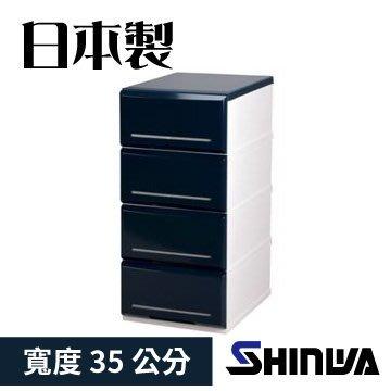 【TRENY直營】(35公分4層 藍) 日本製造 伸和五層抽屜收納櫃 衣櫃 衣櫥 櫥櫃 抽屜櫃 五斗櫃 4346