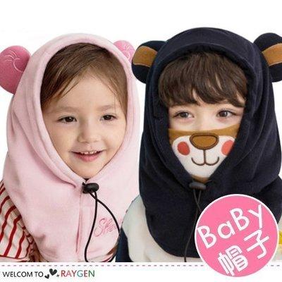 八號倉庫 兒童秋冬三合一老虎熊熊造型護耳帽 脖圍【3F034P785】